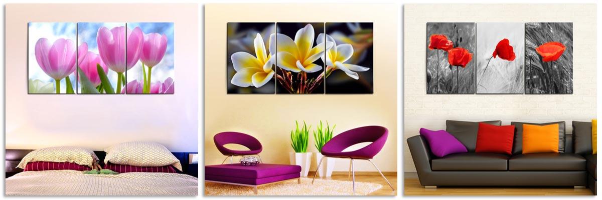 รูปติดผนัง ภาพดอกไม้