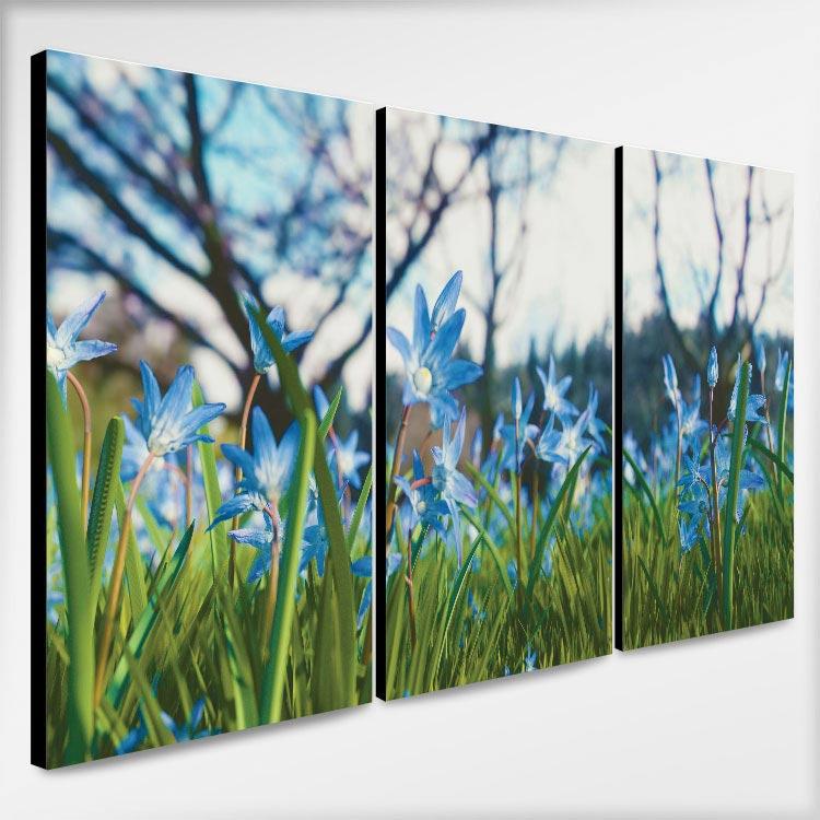 แต่งห้องนอน สีฟ้า เทา ด้วยดอกไม้สวยๆ