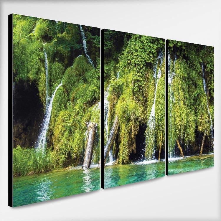 แต่งห้องสีเขียว ด้วยน้ำตก สวยๆ