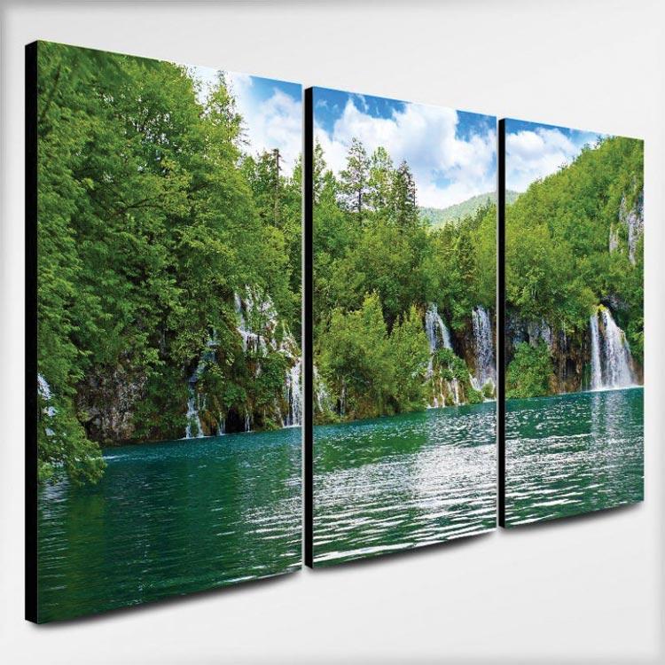 ภาพติดผนังห้องนอนสีเขียว รูปวิวน้ำตก