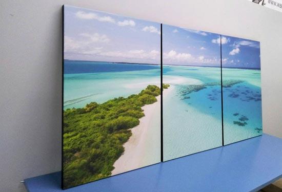 กรอบรูปทะเล แต่งห้องนอนสไตล์สีฟ้า ทะเล ชายหาด