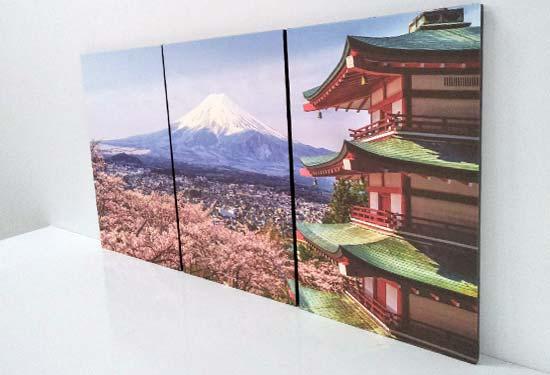 ภาพติดผนัง ห้องนอนสีชมพู ภูเขาฟูจิ ญี่ปุ่น