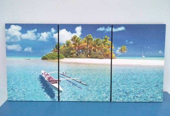 กรอบรูปทะเล ติดผนัง ห้องนอนสีฟ้า