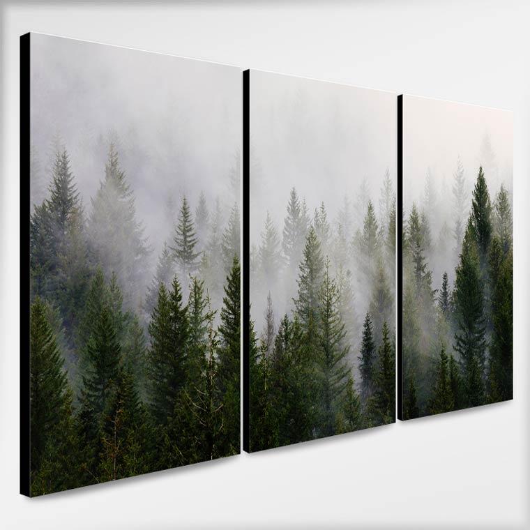 รูปติดผนัง ป่าหมอกสไตล์ธรรมชาติ