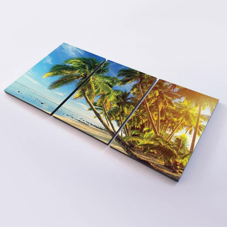กรอบรูปทะเล ต้นมะพร้าว รีวิวแต่งห้อง