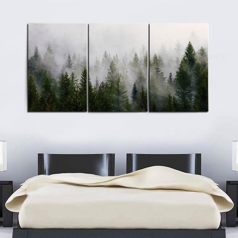 แต่งห้องนอน ผู้ชาย ด้วยภาพต้นไม้ธรรมชาติ