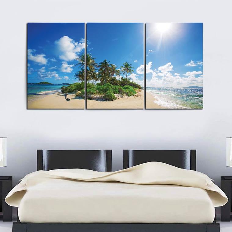 แต่งห้องพัก รีสอร์ท โรงแรม ด้วยกรอบรูป ทะเล