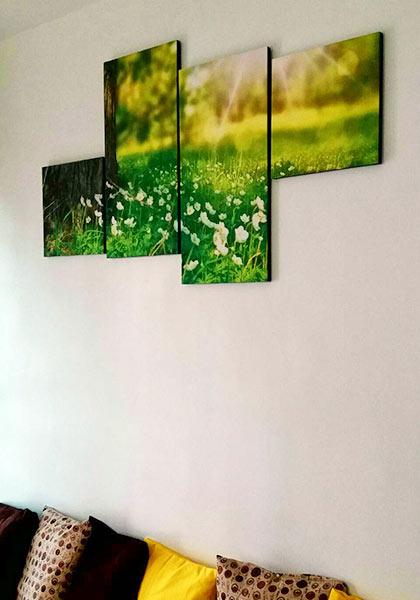 ภาพติดผนังห้องนอน สไตล์โมเดิร์น สวยๆ