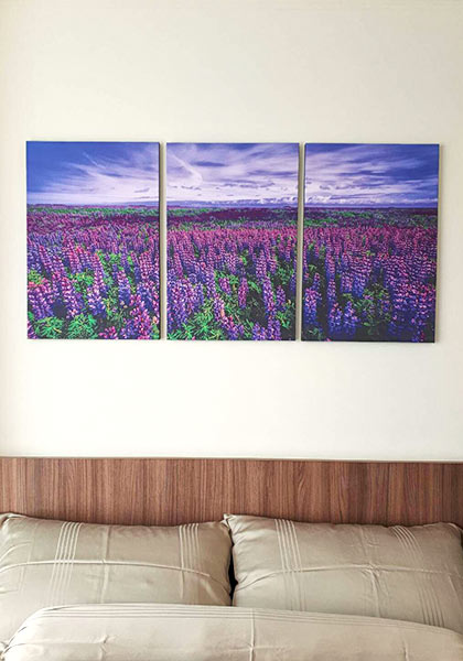 รูปติดผนัง ทุ่งลาเวนเดอร์ ดอกไม้สีม่วง