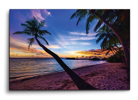 กรอบรูปติดผนัง สวยๆ ทะเล สีม่วง
