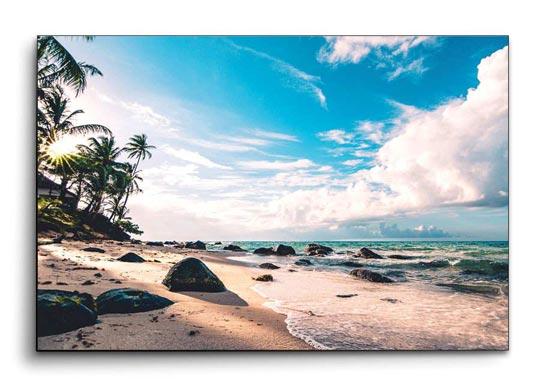 รูปภาพติดผนัง ทะเล ชายหาด สีฟ้า