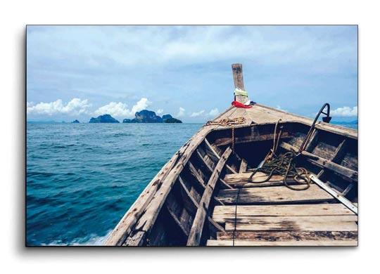 รูปภาพติดผนัง แต่งบ้าน วิวทะเล เรือหางยาว