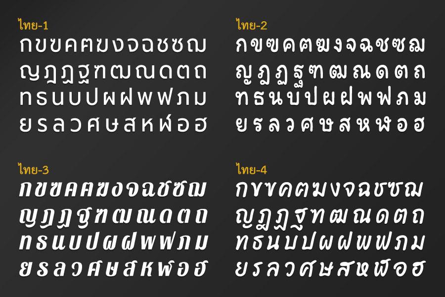 ฟอนต์ไทย ฉลุกอักษร พลาสวูด