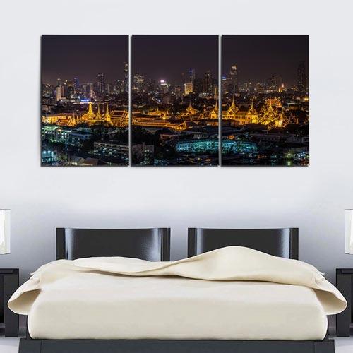 กรอบรูปวิวเมืองกรุงเทพ ตอนกลางคืน