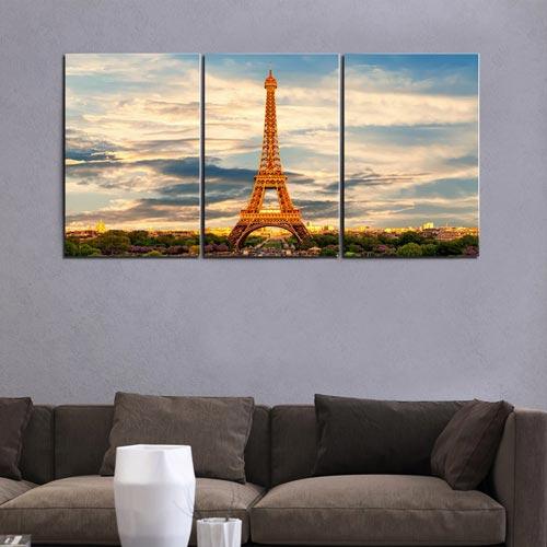 รูปติดผนัง วิวเมืองนอก ปารีส ฝรั่งเศส