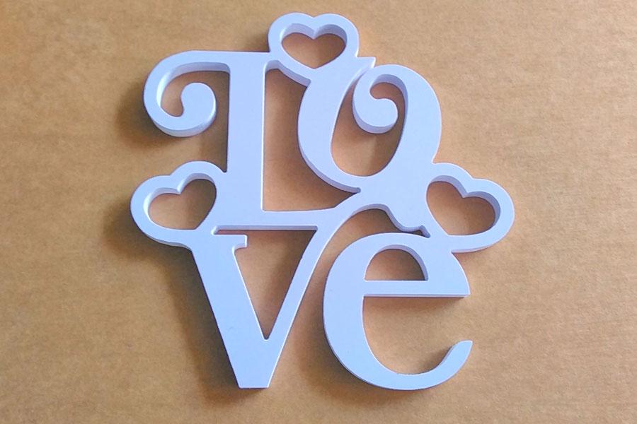 ตัวอักษร ติดผนัง I LOVE YOU