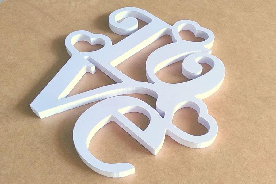 ตัวอักษร ติดผนัง LOVE ราคาประหยัด