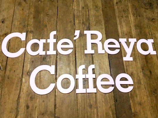 ป้ายร้านกาแฟ ชื่อร้าน Coffee ตัวอักษร ป้ายเช็คอิน