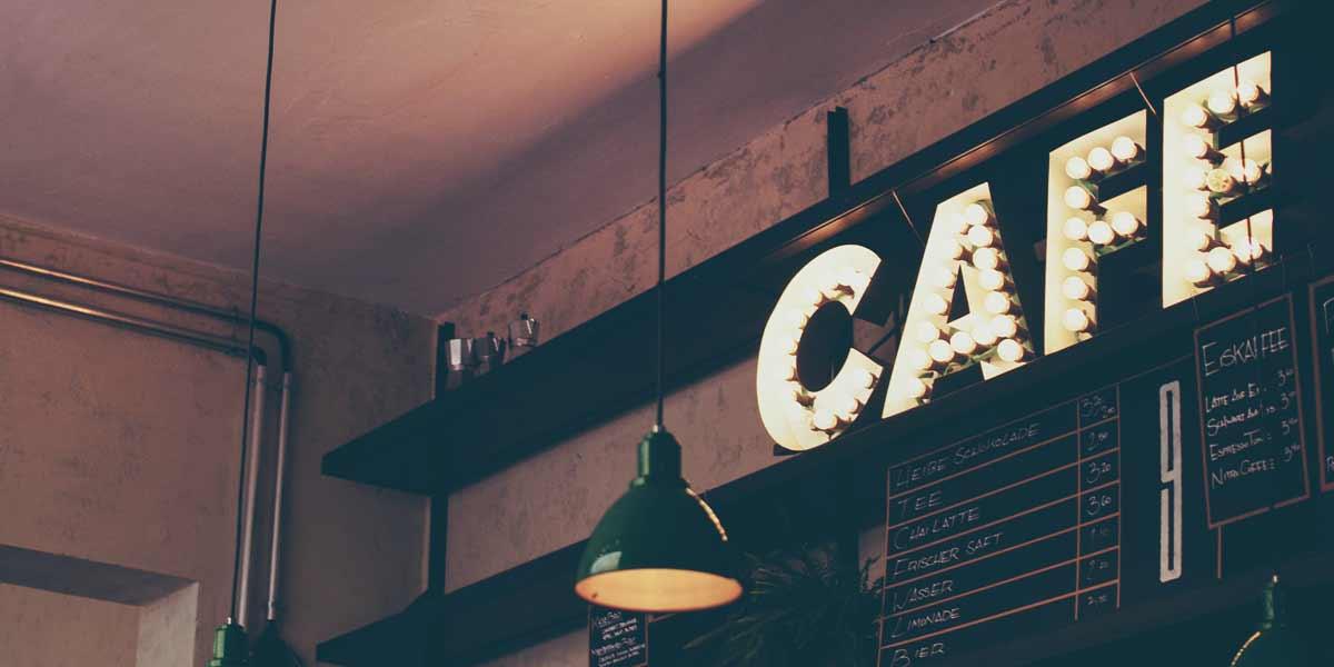 ตัวอย่าง ป้ายร้านกาแฟ สวยๆ