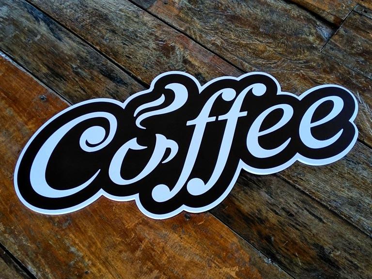 ป้ายร้านกาแฟ วินเทจ Coffee
