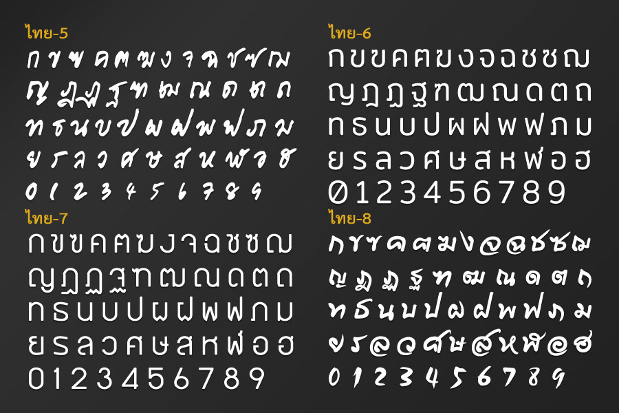 ตัวอักษรไม้พลาสวูด ตัวอักษรอะคริลิก ก-ฮ สีขาว