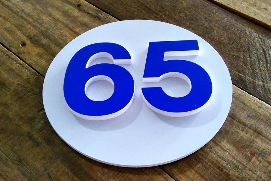 เบอร์บ้านเลขที่ สีน้ำเงิน สวยๆ