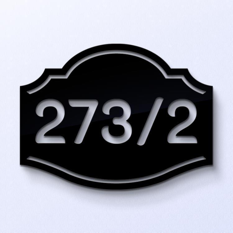 ป้ายบ้านเลขที่ วินเทจ อะคริลิกสีดำ