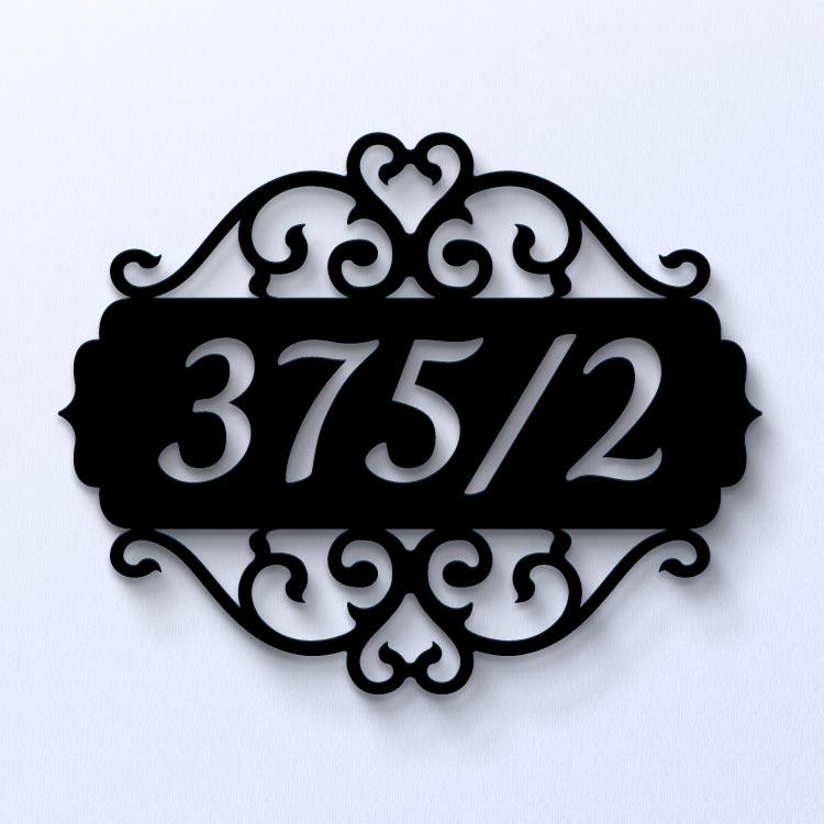 ป้ายบ้านเลขที่พลาสติก สีดำ