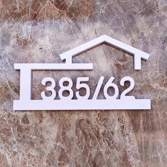 บ้านเลขที่ พลาสวูด ป้ายบ้านเลขที่ โมเดิร์น มินิมอล