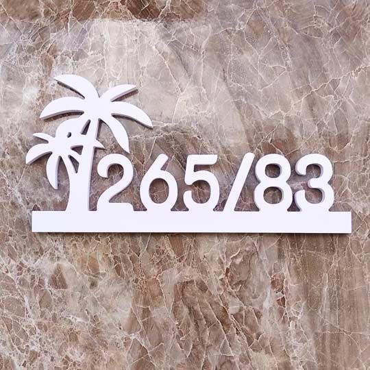 ป้ายบ้านเลขที่ บ้านเลขที่ สไตล์ มินิมอล พลาสวูด ราคาถูก
