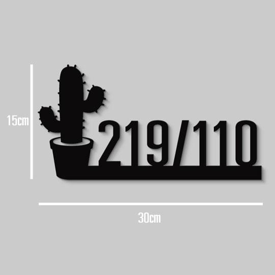 ป้ายบ้านเลขที่ Cactus Minimal ป้ายเลขที่บ้าน สไตล์ มินิมอล