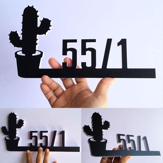 ป้ายบ้านเลขที่ มินิมอล Cactus สวยๆ ราคาถูก