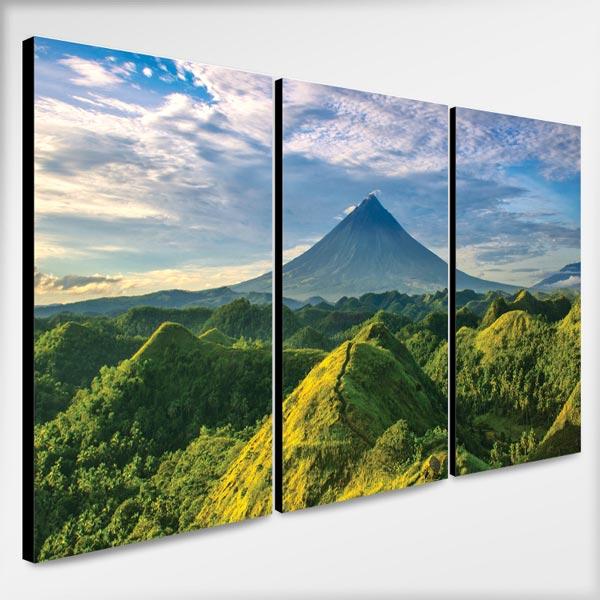 กรอบรูปติดผนัง ธรรมชาติ ภูเขาสีเขียว
