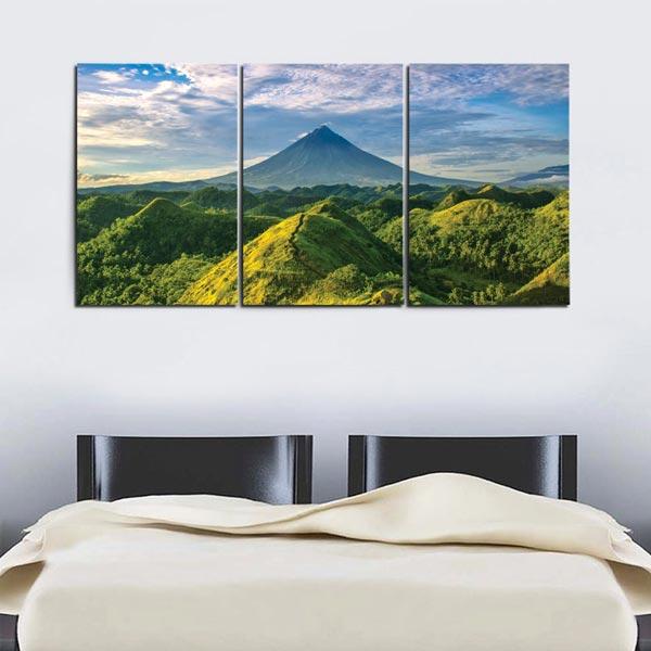 แต่งห้องนอน ด้วยภาพภูเขา