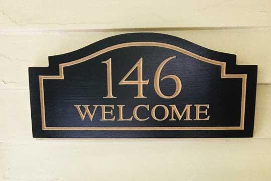 ป้ายยินดีต้อนรับ บ้านเลขที่ วินเทจ