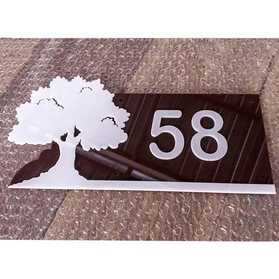 ป้ายบ้านเลขที่ อะคริลิก แบบต้นไม้ สวยๆ