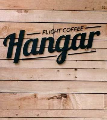 ป้ายชื่อร้านกาแฟ ตัวอักษร อะคริลิก สีดำ