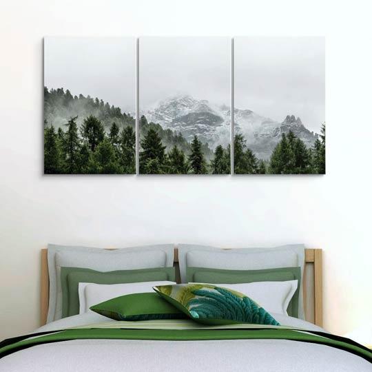 กรอบรูปตกแต่งห้องนอน ภาพตอกผนัง ติดตั้งง่าย แต่งบ้านสวย วิวภูเขา