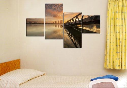 รูปติดผนัง โมเดิร์น สะพาน สีน้ำตาล