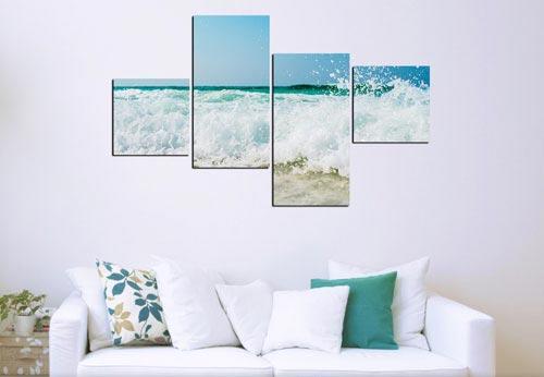 กรอบรูปโมเดิร์น ทะเล แต่งห้องสีฟ้า