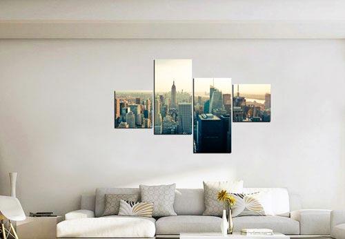 กรอบรูปโมเดิร์น แต่งห้องนอน รูปเมืองนิวยอร์ค
