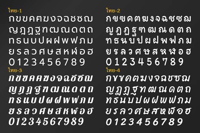 ตัวอักษรไทย สำหรับทำป้าย