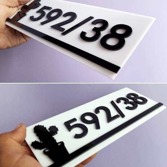 รับทำ ป้ายบ้านเลขที่ ป้ายเลขที่ห้องพัก คอนโด ป้ายหัองพักโรงแรม