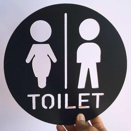 ป้ายห้องน้ำหญิง ชาย น่ารัก ราคาถูก