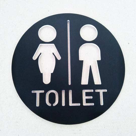 ป้ายสุขา ห้องน้ำ หญิง ชาย น่ารักๆ