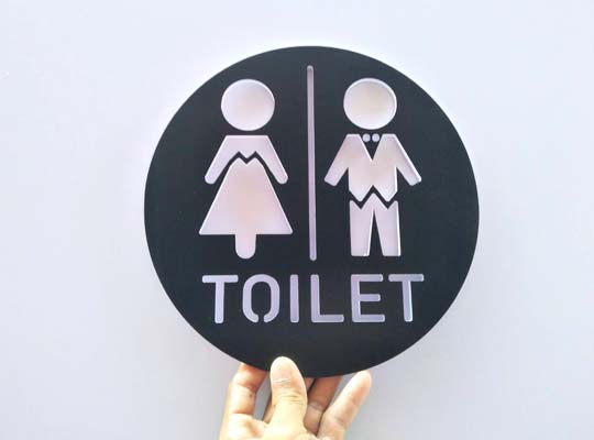 ตัวอย่างป้ายห้องน้ำ ราคาถูก