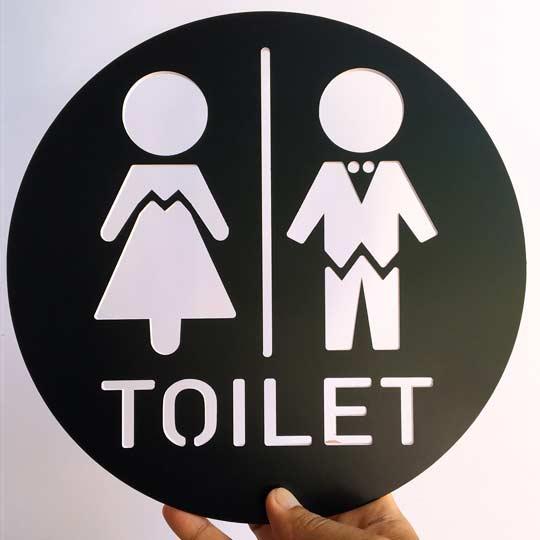 ป้ายห้องน้ำหญิง ชาย น่ารัก สวยๆ