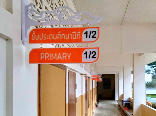 รีวิว ตัวอย่าง ป้ายชั้นเรียน ป้ายติดหน้าห้องเรียน ชั้นประถม